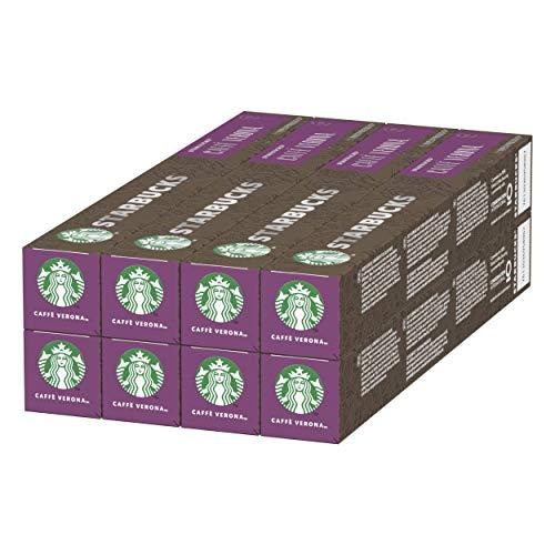 STARBUCKS CAFFÈ VERONA by NESPRESSO Dark Roast, 80 Kapseln, (8 x 10)