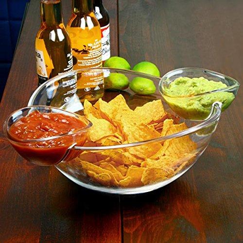 Chip und Dip Schale mit 2 Clip Auf der Seite Dip Dishes