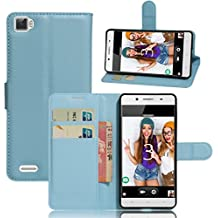 Cubot X17 S Funda, Wrcibo Cubot X17 S Funda Flip de PU Cuero Billetera Cartera Monedero Funda Caso Case para Cubot X17 S Smartphone (Azul)