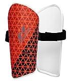 Nivia 766OR Wisdom-2018 Plastic Shin Guard, Large (Orange)