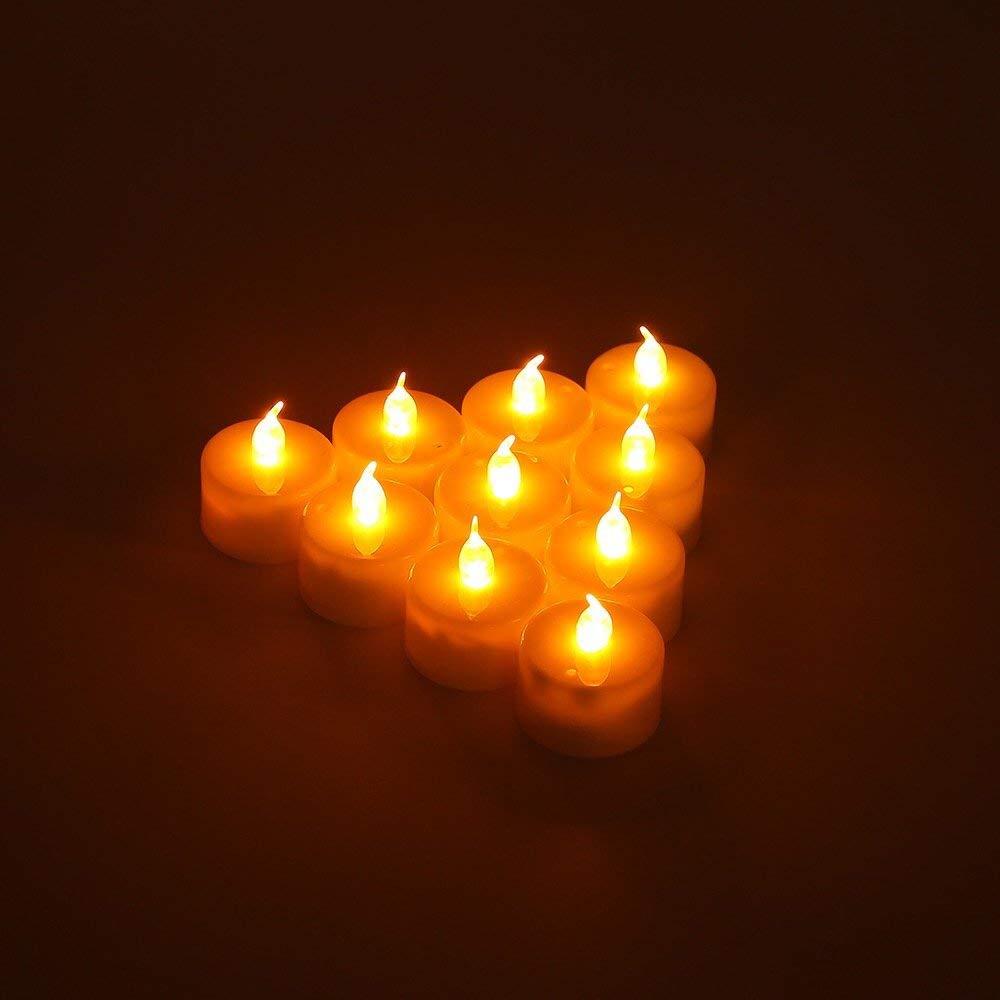 24Pcs Flameless LED Tea Light Candles With Battery TeaLights Blue GL