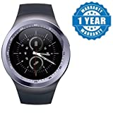 Zebrics Y1 Mobile smartwatch with Touch Screen Support sd Card and sim Card All Android (assort Color)