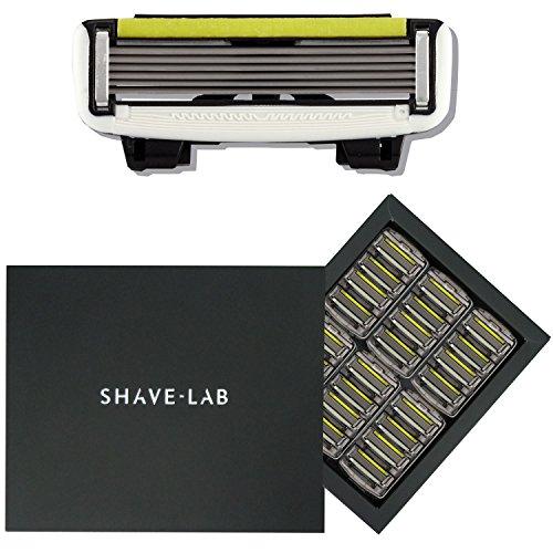 SHAVE-LAB - 24 Rasierklingen für Männer - (24x P.6 Klingen für Systemrasierer - 6 Lamellen aus Edelstahl - Nassrasierer für Stoppeln - Körperhaare)