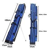 Tragbar Angeltasche 3-Schicht Segeltuch Rod Reel Tasche Wasserdicht Draussen 125 * 17 * 14Cm