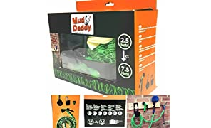 Mud Daddy Expandable Hose, Brush set, Ideal for gardens, Horse washing, Car washing, Tangle free