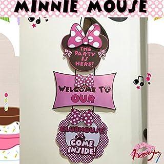 Alemon Minnie Mouse Geburtstagsparty, Türposter, Banner