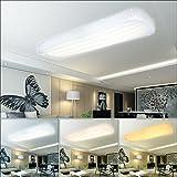 VGO® 30W Wellig LED Deckenleuchte Starlight Effekt Wohnzimmer Deckenlampe Mit Farbwechselfunktion Moderne Flurleuchte geeignet Badezimmer