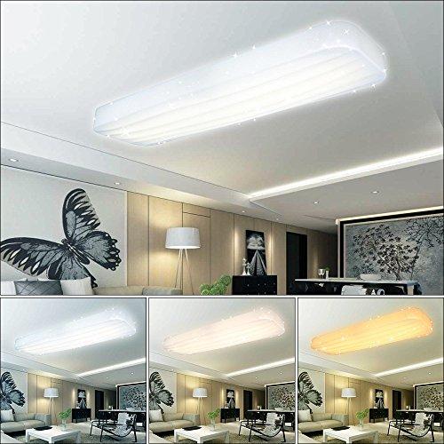 VGO® 3in1 Farbwechsel LED Deckenleuchte, 16 Watt, IP44 Badlampe