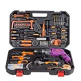 Werkzeugkasten Werkzeugset Hardware-Startseite Holzbearbeitungs-Toolbox Elektriker-Schlagbohrer-Reparatursatz