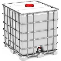 IBC 1000 l Container auf Stahlpalette Zustand gebraucht, hochdruckgereinigt