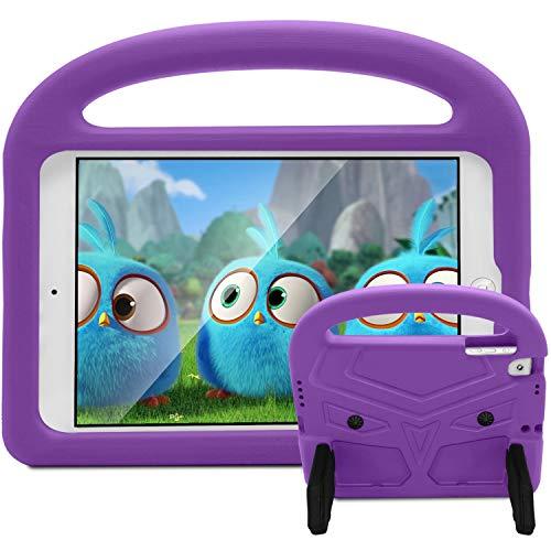 Roasan iPad 9.7 2018/2017 Hülle, iPad Pro 9.7 Hülle, iPad Air 2 Hülle, stoßfest, leichtgewichtig, langlebig, mit Ständer, Kinder-Hülle für Apple iPad 6. / 5. Generation - violett Durable Hard Case