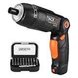 Cordless Screwdriver, Tacklife SDH13DC Electric Screwdriver Rechargeable Electric Driver with 3.6 V Li-Ion Battery and 30 Screwdriver Bits, USB Cable, 4 LED Light and Flashlight Output Torque 4Nm Max