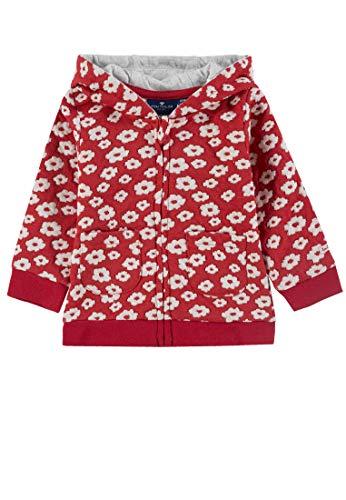 TOM TAILOR Kids Baby-Mädchen Sweatjacket Patterned Sweatjacke, Rot (Bittersweet 2011), (Herstellergröße: 86)