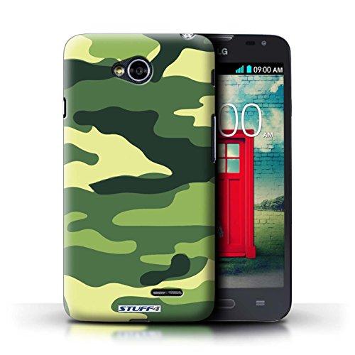 Kobalt® Imprimé Etui / Coque pour LG L70/D320 / Rose 4 conception / Série Armée/Camouflage Vert 2