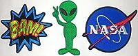 3 pezzi NASA BAM ALIEN 8 a 8,5 cm a pezzo