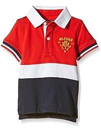 Tommy Hilfiger Colorblock Polo S/S-camiseta Bebé-Niñas    Multicolor Multicoloured (Tomato) 74 cm