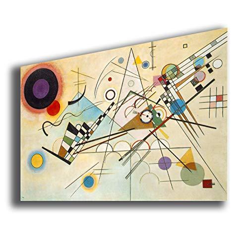 Quadro WASSILY KANDINSKY Composition VIII - RIPRODUZIONE STAMPA SU TELA Quadri Moderni Moderno Arte Astratto Cucina Soggiorno Camera da letto printerland.it (70x100 cm)
