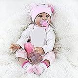 Finlon 22 '' Lifelike Reborn Baby Puppe Neugeborene Silikon Vinyl Reborn Geschenk Baby Dolls Babypuppen Handgefertigte Puppen + Kleidung