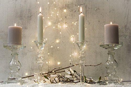 Kerzenleuchter Glas Arian H 40 Cm Glasleuchter Tischdeko Hochzeit