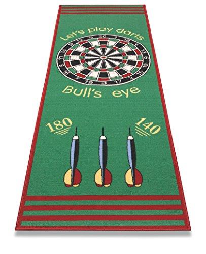 FS Spielmatte in sehr guter Qualität - Dartspiel - Bulls\' Eye - Zielscheibe 79 x 237 cm Made in Europe