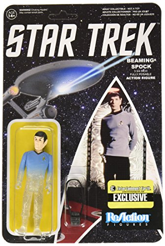 Star Trek: The Original Series Beaming Spock ReAction 3 3 / 4-Inch Retro Action Figure - Limited Edition by Star Trek