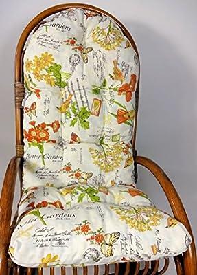 Auflage / Polster für Schaukelstuhl , Liegestuhl , Ersatzpolster Gr. 130 x 50 x 12 cm, Stoff Loneta von Rattani - Gartenmöbel von Du und Dein Garten