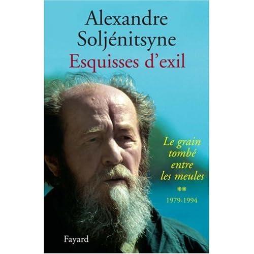 Esquisses d'exil : Tome 2, Le grain tombé entre les meules, 1979-1994