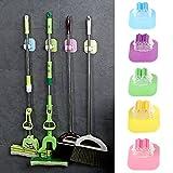 qiman Besen Mop Inhaber Zange selbstklebend Wandtattoo-Tools Badezimmer Organizer