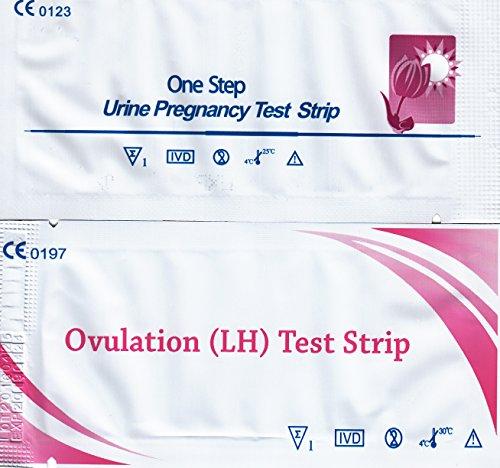 Ovulationstest hLH 30 Stück + Schwangerschaftstest hCG 12 Stück (Versandzeit 1 Werktag)