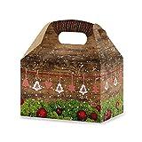 5scatole di Natale, rosse, bianche e a quadretti verdi, confezioni da regalo per Natale (12,5x 18,6x 12cm) per i clienti, i dipendenti, gli amici, confezione regalo in cartone