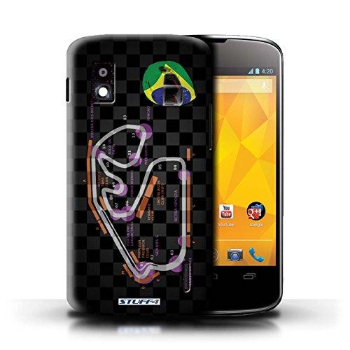 Kobalt® Imprimé Etui / Coque pour LG Nexus 4/E960 / Bahreïn/Sakhir conception / Série 2014 F1 Piste Brésil/São Paulo