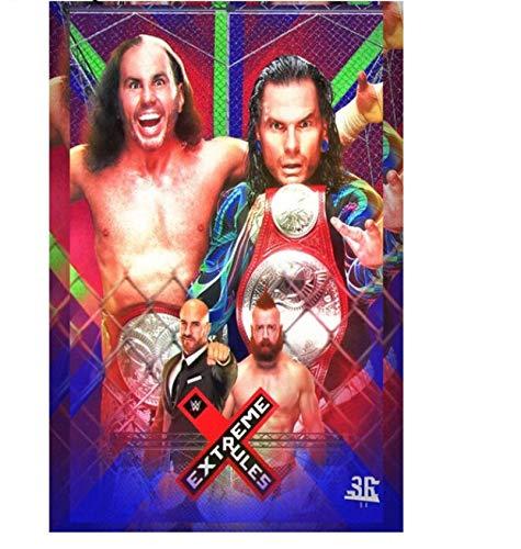 NVRENHUA Abbildung Leinwand Kunst Poster Wandmalerei Bild American Professional Wrestling Home Club Dekorative Malerei 50 * 75 cm Rahmenlose