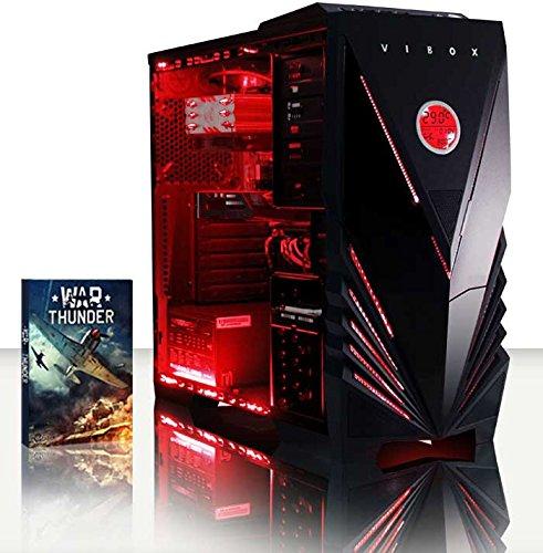 VIBOX CENTRE 4 GAMING PC - 4 0GHZ CPU 4-CORE AMD  GPUGTX1050  AVANZADO  ORDENADOR DE SOBREMESA PARA OFICINA GAMING VALE DE JUEGO  CON UNIDAD CENTRAL  ILUMINACIàNINTERNA ROJO (3 8GHZ (4 0GHZ TURBO) PROCESADOR CPU QUAD 4-CORE AMD FX 4300  NVIDIA GEFORCEGTX1050 2 GB TARJETAGRAFICAGPU  8 GB MEMORIA RAM DE DDR3  VELOCIDAD DE RAM: 1600MHZ  1TB(1000GB)SATAIII7200 RPMDISCODUROHDD  RAIJINTEKAIDOSAIREREFRIGERADORDE LACPU  85+ PSU400W  CAJA DEVIBOXROJO  NINGUN SISTEMA OPERATIVO)