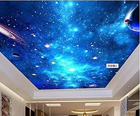 LWCX 3D Wallpaper benutzerdefinierte Wandbild Seidentuch Bild Wall Sticker 3d-Traum Sternenhimmel Decke Wandbild Fototapete Wände 3 D 308X250CM