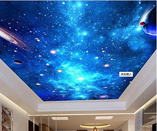 Preisvergleich Produktbild LWCX 3D Wallpaper benutzerdefinierte Wandbild Seidentuch Bild Wall Sticker 3d-Traum Sternenhimmel Decke Wandbild Fototapete Wände 3 D 352X250CM