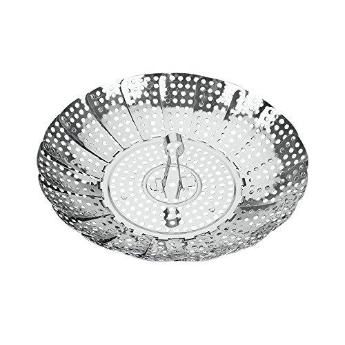 """Metaltex """"Vaporette"""" Steamer, Silver, 14-23 cm"""