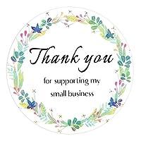 500 قطعة 1.5 بوصة ملصقات شكر لك جولة كرافت لفة شكرا لك لدعم ملصقات الأعمال الصغيرة الخاصة بي
