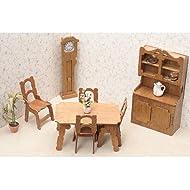 Greenleaf - Kit-sala da pranzo in legno, per bambole