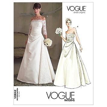 Vogue Patterns V2842 Size A 6 8 10 Misses Dress