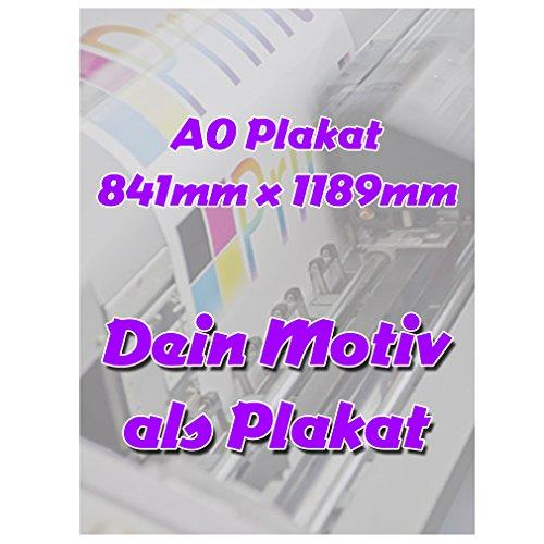 SHIRT-TO-GO Fotodruck Plakat Din A0 Plakat 841mm x 1189mm individuell mit Deinem Motiv Selbst Gestalten