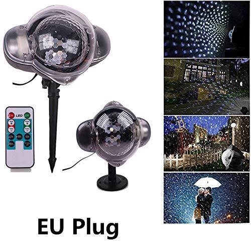 (elegantstunning Projektor LED Wasserdichter Schneefall mit Fernbedienung Schneefall Licht für Indoor Outdoor Weihnachten Halloween Party Hochzeit)