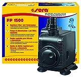 sera 30596 Filter- und Förderpumpe FP 1500 regelbar für Süß- und Meerwasser (Qmax: 1500 l/h Hmax: 2,50 m bei 25 Watt mit EU-Stecker und 20 mm Schlachstutzen sowie 1,8m Netzkabel)