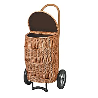 Andersen XXL basket shopping trolley creme, Max. load capacity 40 Kg, With fabric lining, Volume 50L