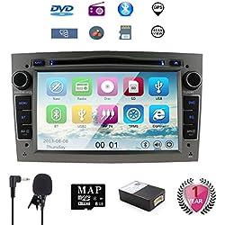 NVGOTEV 7'' Car la Audio Stéréo Lecteur DVD et CD de Voiture GPS Navi pour Corsa Zafira Antara Astra Vectra Meriva Soutien GPS Navigation Audio Vidéo Bluetooth USB SD SWC FM AM RDS Liaison