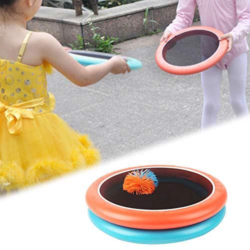 Outdoor Trampolin Schläger Frisbee Multifunktions Frisbee Cover mit 30 cm Durchmesser Tragbar Spikeball-Set Elastischer Netzbespannung Spiel für Kinder, Erwachsene