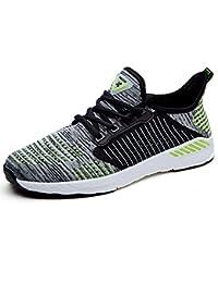 NEOKER Uomo Donna Scarpe da Sportive Running Basse Sneakers Arancia 41