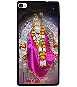 ColourCraft Lord Sai Baba Design Back Case Cover for HUAWEI P8
