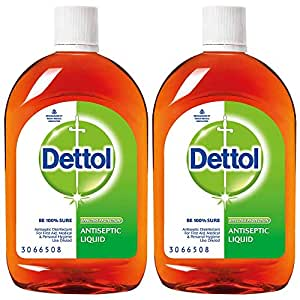 Dettol Antiseptic Liquid for First Aid , Surface Disinfection and Personal Hygiene , 550ml (Pack of 2)