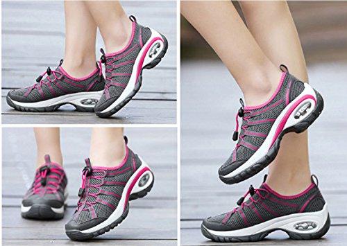 Antiscivolo da donna Indossabile Elasticità Traspirabilità Sport all'aria aperta Scarpe da alpinismo Escursionismo Scarpe da corsa Black