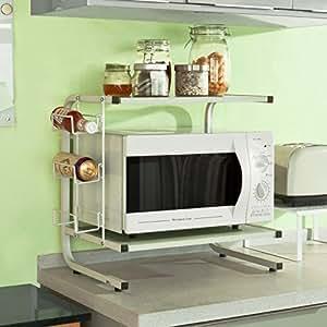 Etagere meuble cuisine homfa chariot de stockage 4 etages for Meuble salle de bain smith